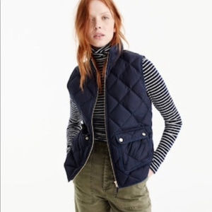 J CREW QUILTED EXCURSION DOWN VEST / PUFFER ~ M